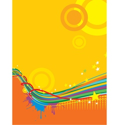 grunge sunny template background vector image