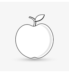 Apple design fruit icon colorful vector