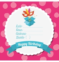 Birthday invitation design vector