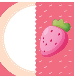 A stationery with a strawberry vector image vector image