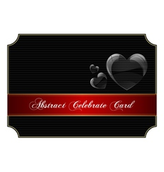 Abstract black celebrate card vector