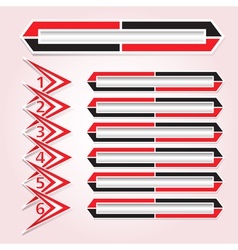 background figures arrow keys vector image vector image