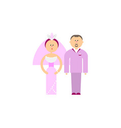 Bride and groom rose quarz colors vector