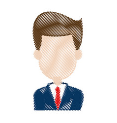 Businessman in suit business cartoon successful vector