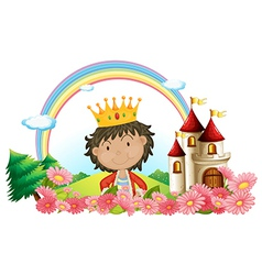 Cartoon Castle King vector image