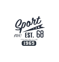 Classic sport label nyc vector