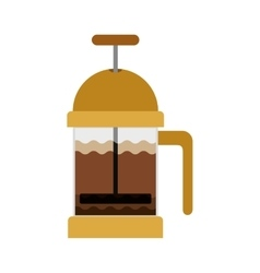 coffee grinding jarra with crank vector image