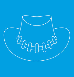 Cowboy hat icon outline style vector