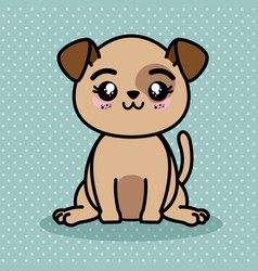 Cute and lovely dog cartoon vector