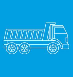 Dumper truck icon outline vector