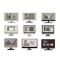 Flat design computer vector image