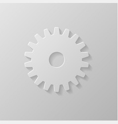 Gear icon on a grey background vector