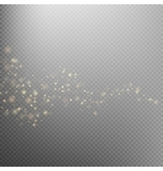 Gold glittering star dust trail EPS 10 vector image vector image