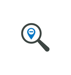 magnifying glass icon location pin icon vector image