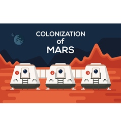 Mars colonizations coloni vector
