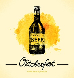 Oktoberfest hand drawn watercolor background vector image vector image