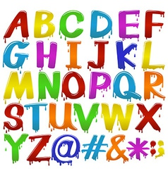 Rainbow coloured letters of the alphabet vector