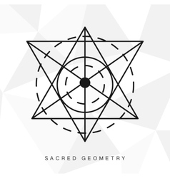 Sacred geometry sign vector image vector image