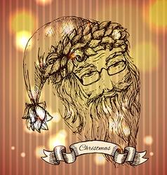 Santa claus hand drawn llustration realistic vector