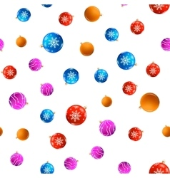 Seamless pattern with Christmas toys vector image vector image