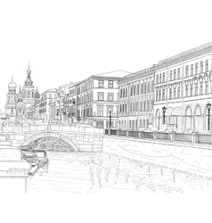Sketch of a city street vector image vector image