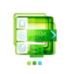 Square web design boxes - vector image