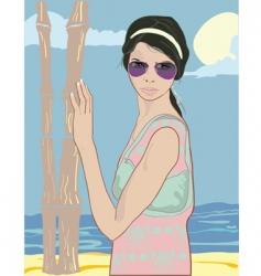 summer pretty girl vector image vector image