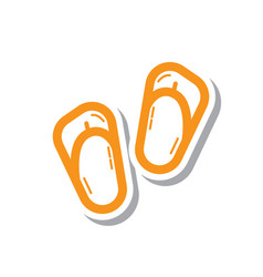 Thin line sandals icon vector