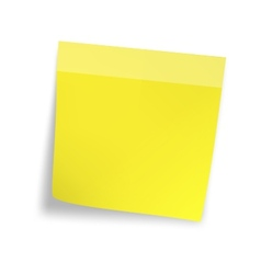 Yellow sticker paper note vector image