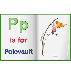 A picture of pole vault in a book vector