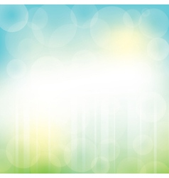 Abstract green blue background with bokeh vector