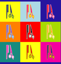 barber shop sign  pop-art style colorful vector image