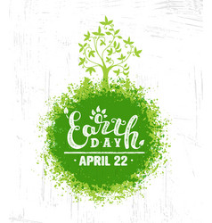 earth day eco green poster design organic vector image