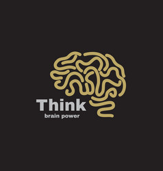 Logotype think power vector
