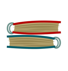 red and blue photo albums placed one on another vector image