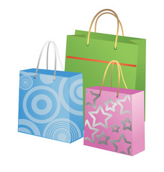Gift bags isolated on white background vector