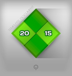 215 green squares vector