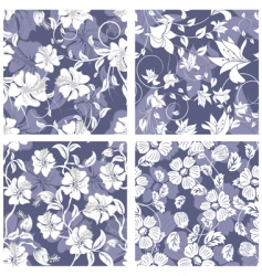 Floral pattern set vector