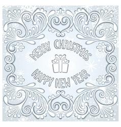 Christmas snowy relief design vector