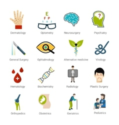 Medical specialties set vector