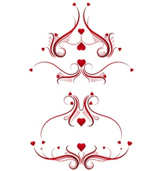 Decorative ornament with lovely heart vector