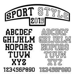 Serif font in the retro style of sport vector