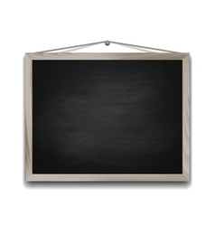 Black chalkboard in wooden frame vector