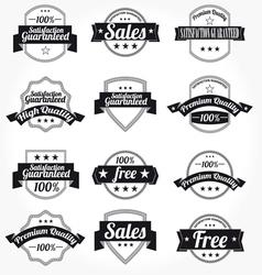 labels retro design vector image