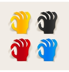 Realistic design element hand vector