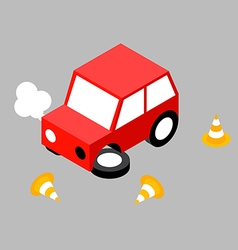 Car crash cone vector