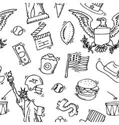 American doodle set pattern vector