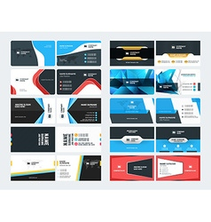 Set of creative and clean corporate business card vector