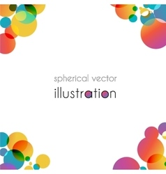 Brochure with color angles vector