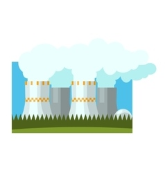Industrial chimneys vector